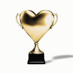 A heart-shaped trophy