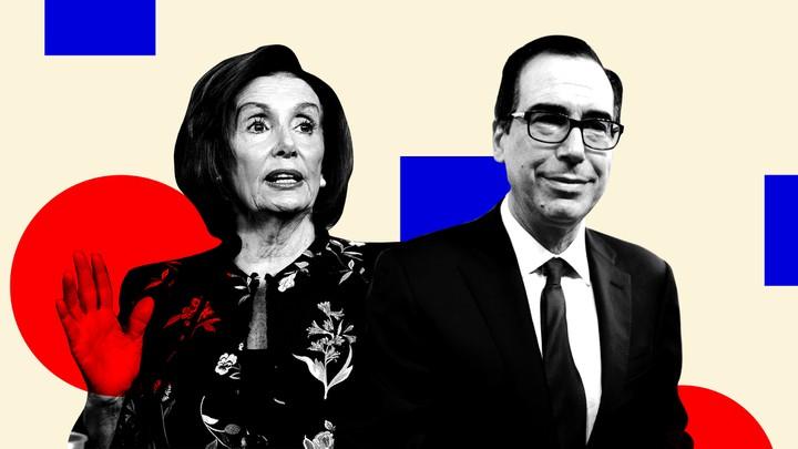 Nancy Pelosi and Steve Mnuchin