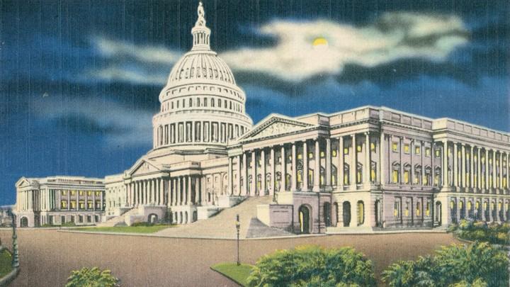 A postcard of the U.S. Capitol