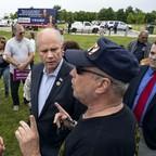 Congressman Dan Donovan talks to supporters.