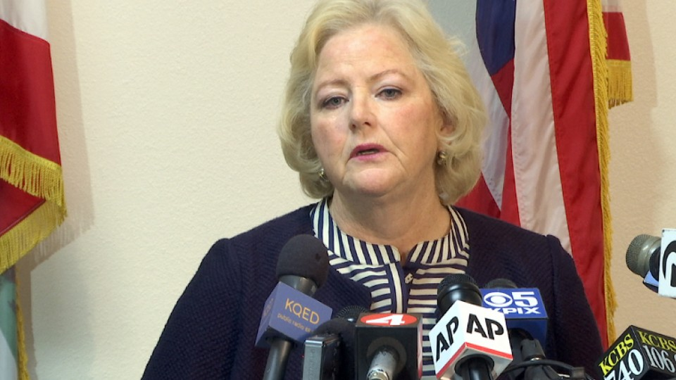 Alameda County District Attorney Nancy O'Malley announces that her office will charge seven current and former San Francisco Bay Area police officers on September 9.
