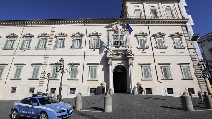 The Quirinale presidential palace in Rome