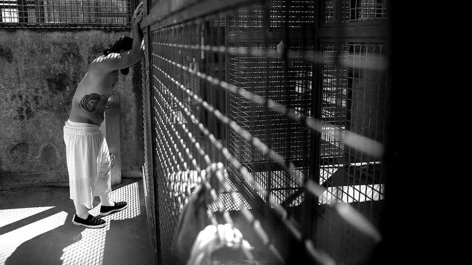 A man in prison