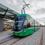 Basel's new streetcar is pictured.