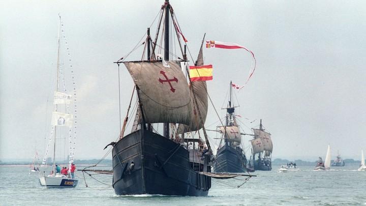 Replicas of Christopher Columbus's ships: La Nina, La Pinta, and La Santa Maria