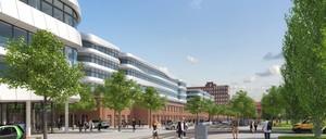 """a photo rendering of """"Siemensstadt 2.0"""" in Berlin"""
