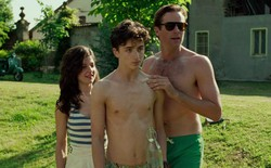 Esther Garrel, Timothée Chalamet, and Armie Hammer in a scene from 'Call Me by Your Name'