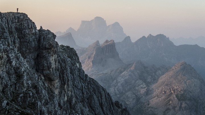 The Dolomites at sunset