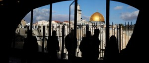 The Dome of the Rock is pictured.