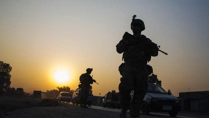 U.S. soldiers near Forward Operating Base Fenty in the Nangarhar province of Afghanistan on December 19, 2014