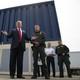 Trump reviews border wall prototypes