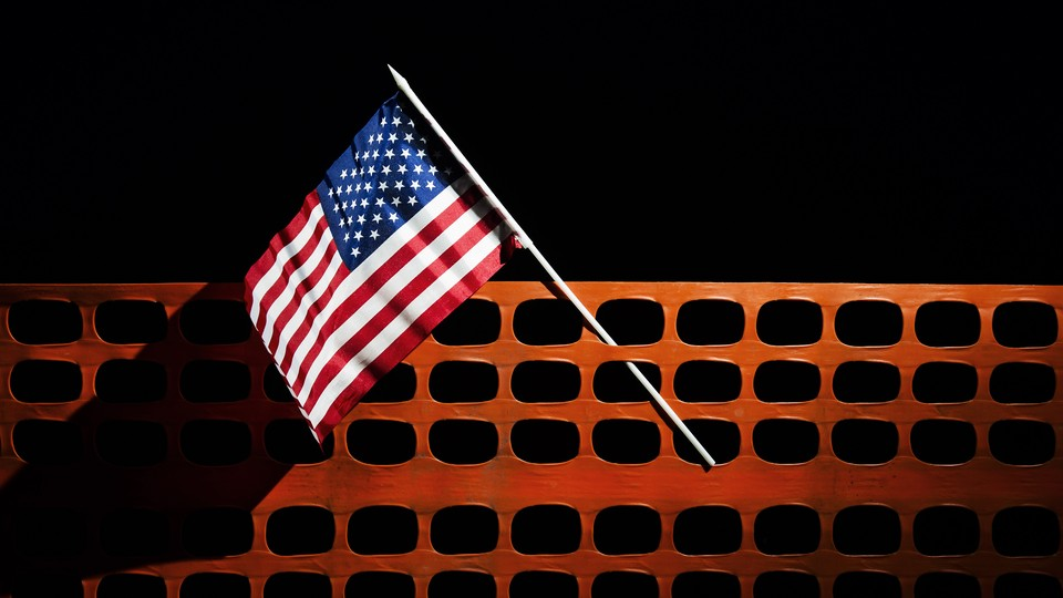 Illustration of an American flag.