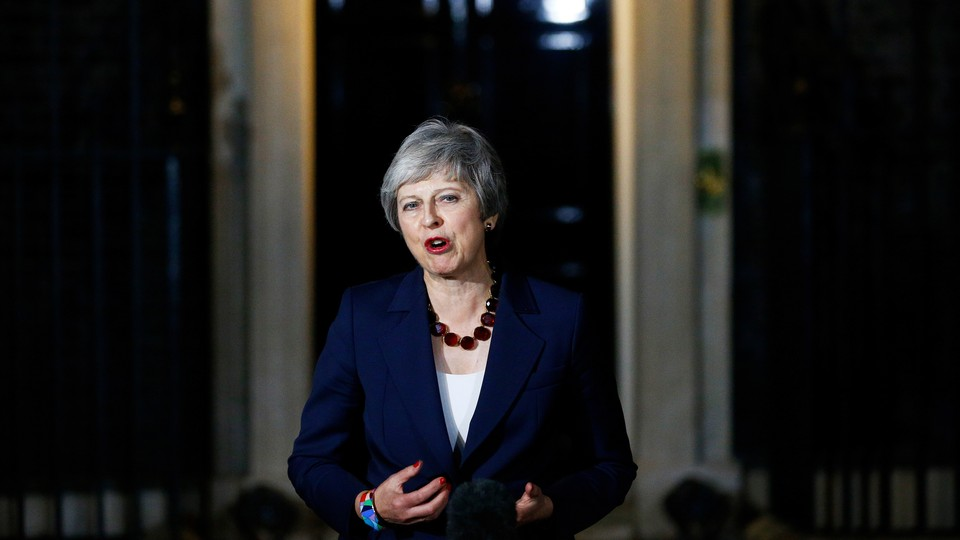 Theresa May makes a statement outside 10 Downing Street on November 14.