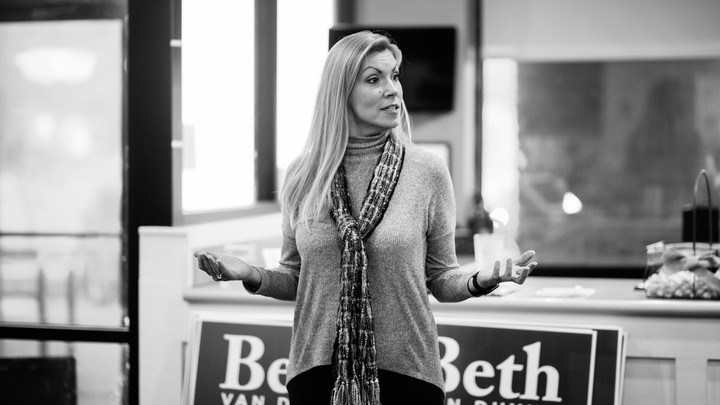 Representative Beth Van Duyne holds a meet-and-greet at PJ's Cafe in Irving, Texas, on February 22, 2020.