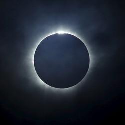 A total solar eclipse