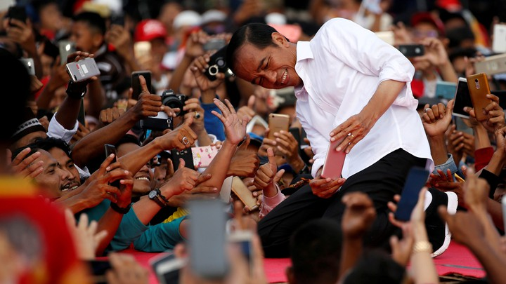 Indonesia's incumbent presidential candidate, Jokowi, appears to have won reelection.