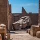 Crumbling ruins in a desert