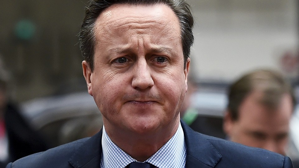 British Prime Minister David Cameron arrives for a European Union leaders summit addressing the talks about the so-called Brexit and the migrants crisis in Brussels, Belgium, February 18, 2016.