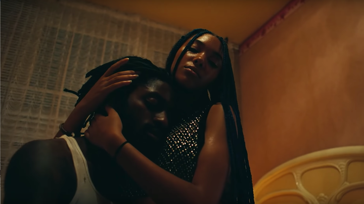 """One of the couples in Beyoncé and Jay-Z's """"Apeshit"""" music video modeling a kind of tenderness between equals"""