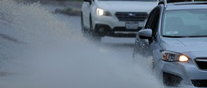 A photo of a Lyft ride-hailing vehicle.