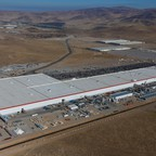 A large factory in the desert