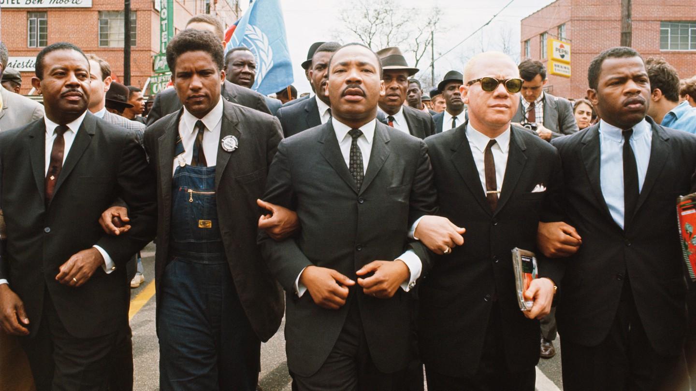 Abernathy, Forman, King, Douglas, Lewis in Selma, AL, 1965