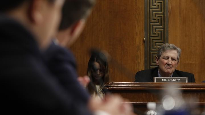 Senator John Kennedy of Louisiana pictured at a Judiciary Committee hearing