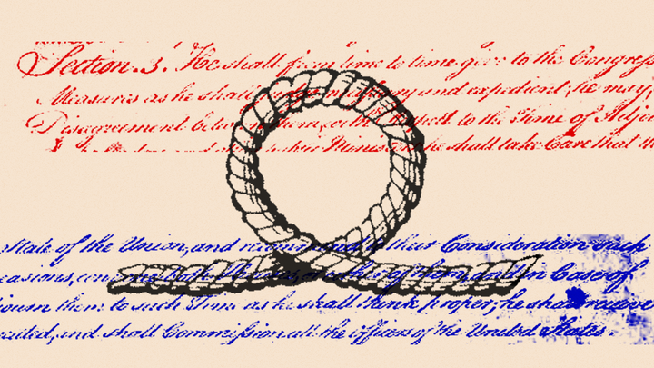 An illustration of a loophole in front of text.