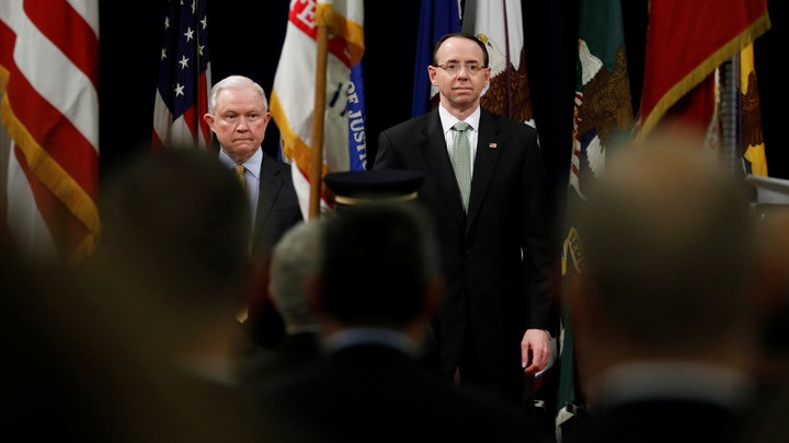 Jeff Sessions and Rod Rosenstein
