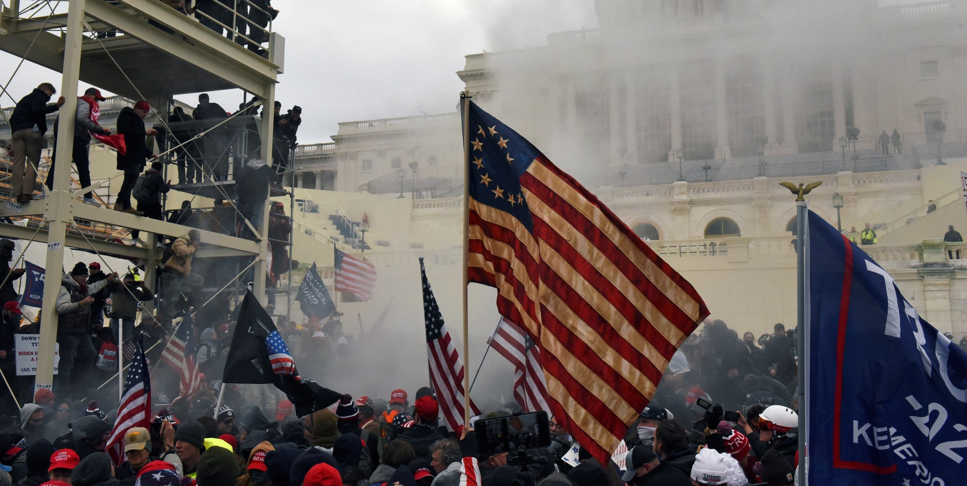 Insurrectionists at the Capitol