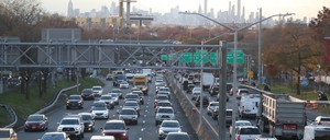photo: Pre-Thanksgiving traffic on the Long Island Expressway in 2018.