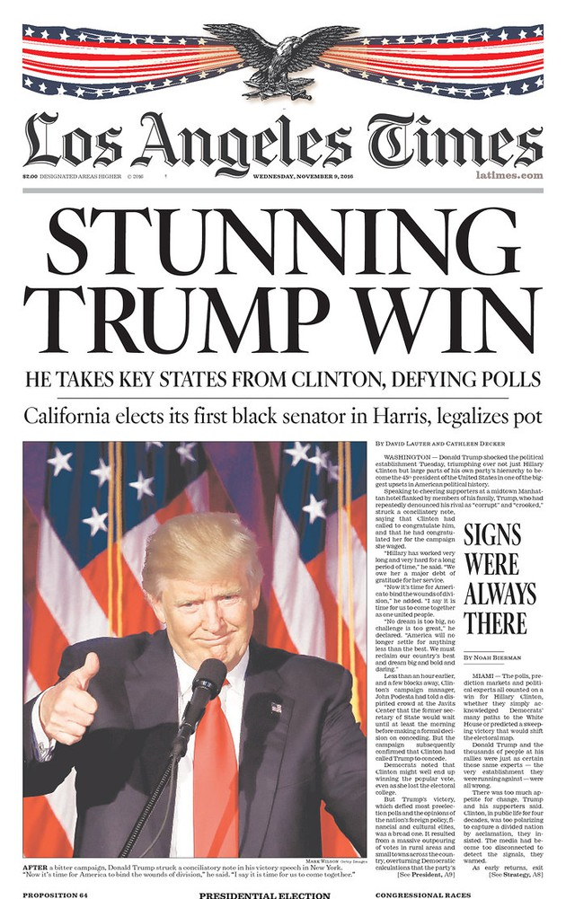 Newspaper Front Pages on Donald Trump's Win - The Atlantic