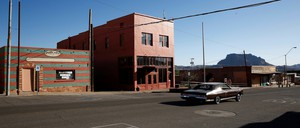 vacant store fronts in mining town in Arizona