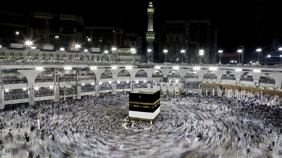 Muslim pilgrims gather in Mecca before the Hajj Pilgrimage, which begins September 10.