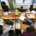 A photo of a school classroom in Newark, New Jersey.