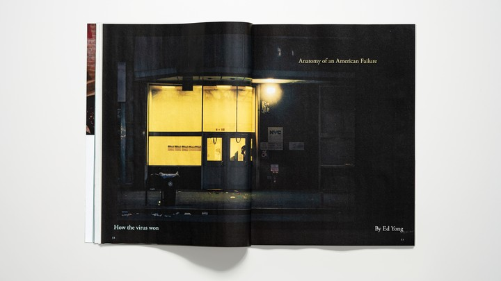 "photo of ""Anatomy of an American Failure"" spread in magazine"