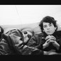 """Paul Morrissey, Andy Warhol, Lou Reed, and Moe Tucker from archival photography in a split-screen frame from """"The Velvet Underground"""""""