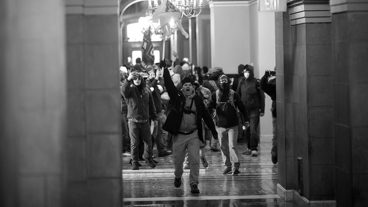 Protesters storm the Capitol.