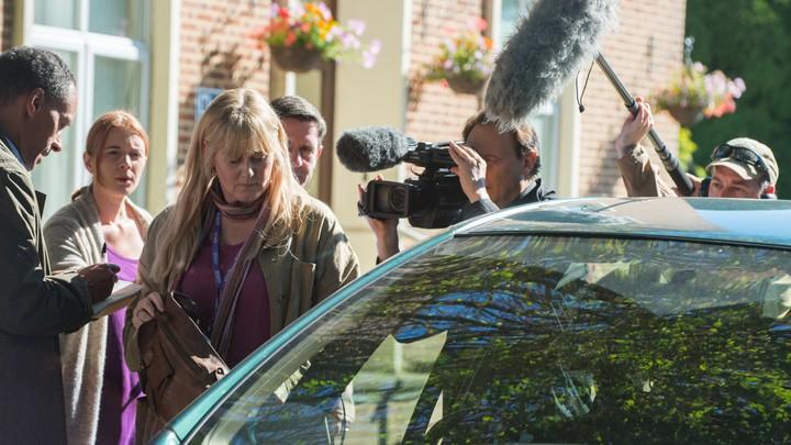 Sarah Lancashire stars as Miriam, a social worker, in Hulu's 'National Treasure: Kiri'