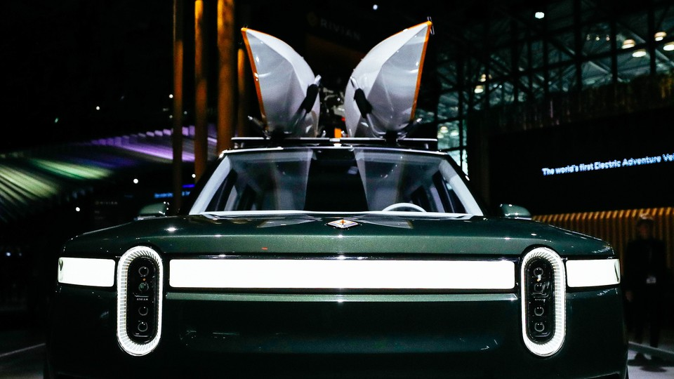 Rivian RT1 is on display during the New York International Auto Show on April 17, 2019