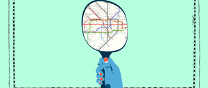 a photo illustration of a London Tube map from 1977