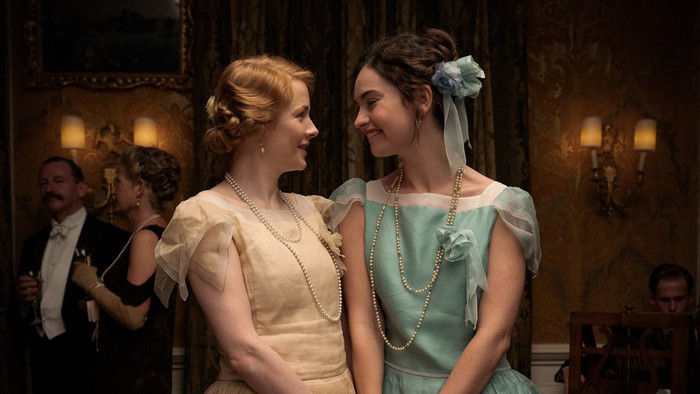 A still of two women from Amazon's The Pursuit of Love series