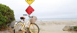 a photo of a beach cruiser bike.