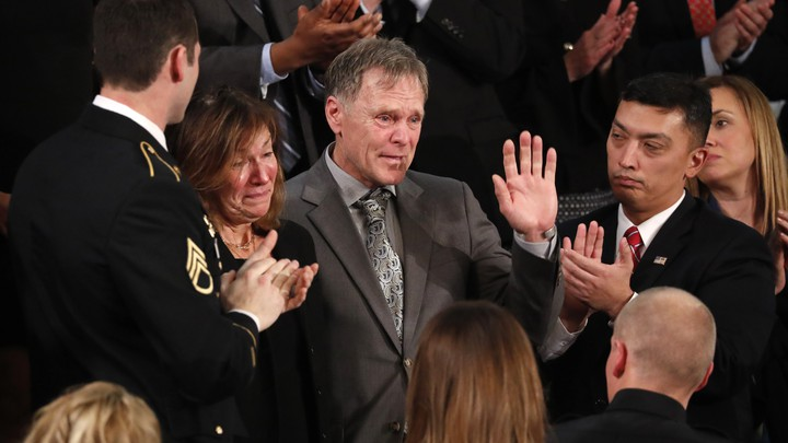 Otto Warmbier's parents, Fred and Cindy Warmbier, cry during President Donald Trump's State of the Union address.