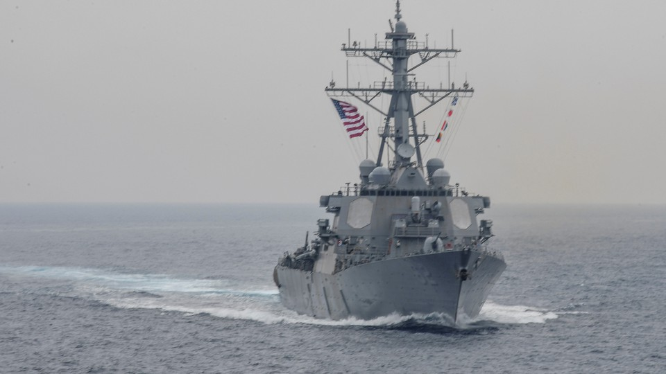 The USS Fitzgerald during a bilateral exercise in the Sea of Japan on June 1, 2017.