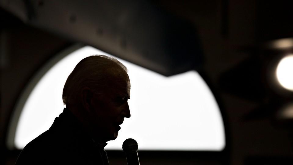 Joe Biden speaks during a campaign event in Burlington, Iowa.