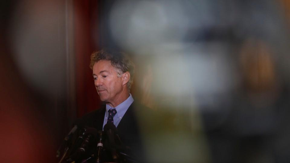 Senator Rand Paul on Capitol Hill