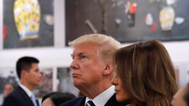 Donald and Melania Trump in China