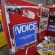Empty Village Voice newsstands