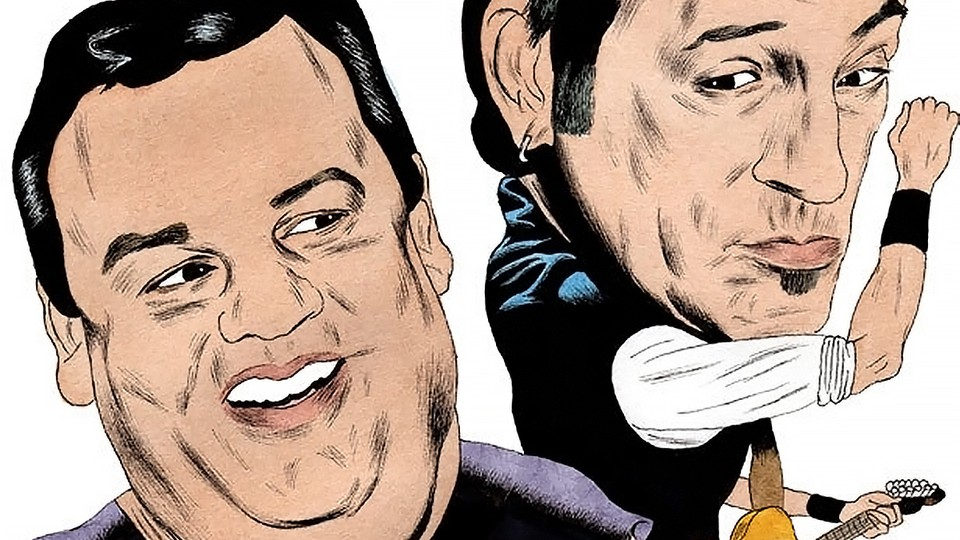 Illustration: Chris Christie and Bruce Springsteen